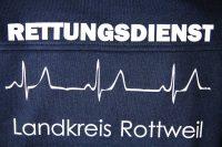 Beflocken, Beflockung Rettungsdienst Logo