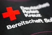 Stickerei, Bestickung, DRK Logo